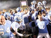 North Carolina survived a late Duke field goal attempt and beat their cross-town rival in OT.