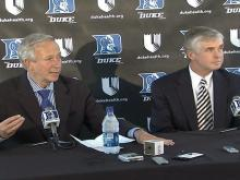 05/31/2008: Duke introduces Kevin White as AD