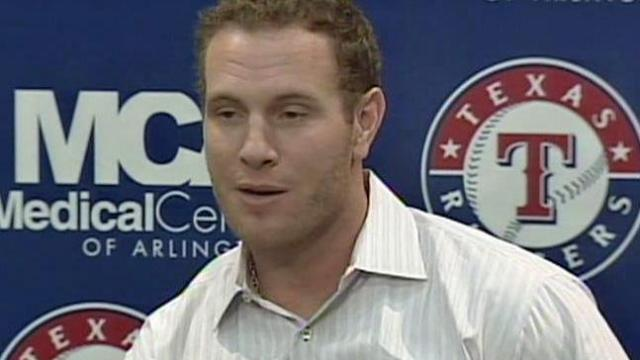 Texas Rangers' Josh Hamilton addresses the media after receiving the AL MVP award, video courtesy KTVT.