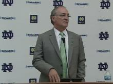 Press conference at Notre Dame