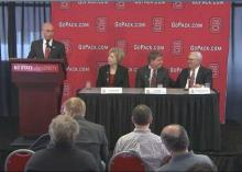 04/08: New NCSU women's basketball coach introduced