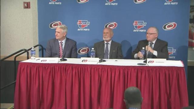 Carolina Hurricanes news conference