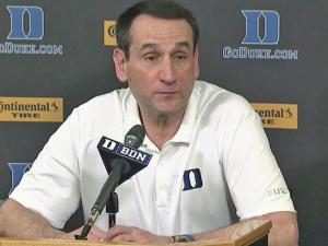 Coach K previews Final Four