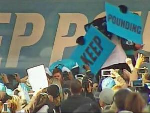 Panthers, fans rally ahead of Super Bowl