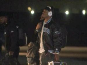 Panthers return to NC after Super Bowl 50