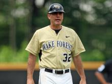 Wake Forest baseball coach Tom Walter
