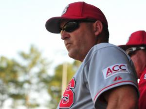 NC State head coach Elliott Avent during the Campbell University vs. North Carolina State University NCAA baseball game in Buies Creek, N.C. Tuesday April 17, 2012.