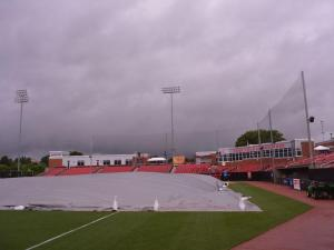 NC State's baseball field was soaked by rain from Tropical Storm Andrea on Friday.