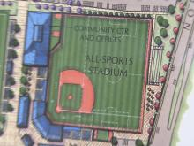 Images of Holly Springs plans for a multi-purpose sports complex which will be the home of a new Coastal Plain League team.