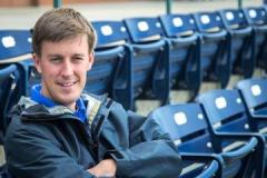 Scott Strickland is head groundskeeper for the Durham Bulls