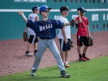 Every summer, the Durham Bulls host a group of kids for a big-league level baseball camp at DBAP (Photos by Ivan Weiss).