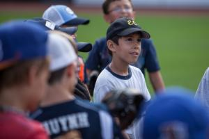Every summer, the Durham Bulls host a group of kids for a big-league level baseball camp at DBAP.