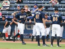 The Durham Bulls scored five runs in the fifth inning en route to a 13-6 win over the Charlotte Knights Tuesday in the final home game of the regular season at Durham Bulls Athletic Park.