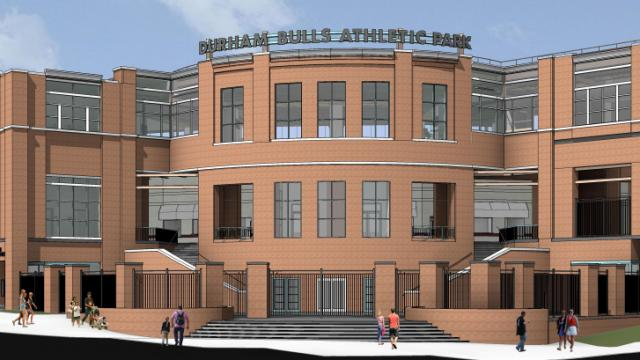 Image of the new Durham Bulls Athletic Park.