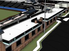 Images of the renovations planned during the off season at the Durham Bulls Athletic Park.