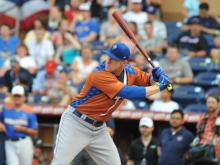 Former Wake Forest baseball player Allan Dykstra needed just one home run in the final round Monday at the Triple-A Home Run Derby to send his family and friends home happy. It came on his second swing as he defeated Omaha's Francisco Pena.