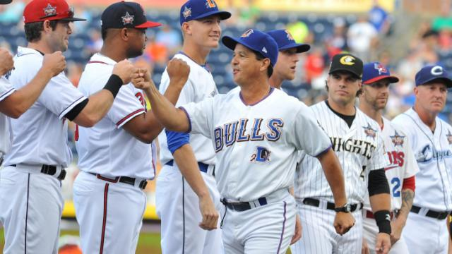 FILE: Durham Bulls Manager Charlie Montoyo before Triple-A All Star Game action at the Durham Bulls Athletic Park on July 16, 2014 in Durham, NC. (Will Bratton/WRAL contributor)