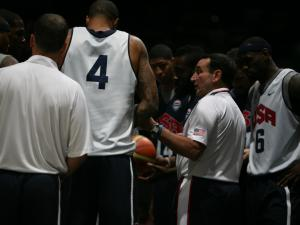 Basketball players on Team USA practiced in Washington, D.C., Saturday, July 14, 2012 before the Summer Olympics.