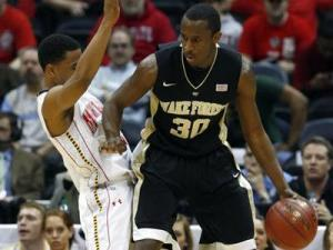 Travis McKie of Wake Forest on March 8, 2012.