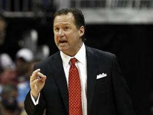 N.C. State head coach Mark Gottfried during the semi-final round of the ACC Tournament on March 10, 2012.