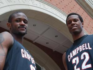 Campbell University men's basketball players Darian Hooker and Reco McCarter