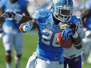 North Carolina Tar Heels running back Giovani Bernard #26.North Carolina defeats East Carolina 27-6 at Kenan Stadium in Chapel Hill North Carolina.