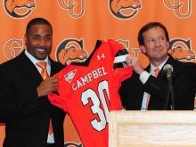 Former Carolina Panthers safety Mike Minter was announced Tuesday as the new head football coach at Campbell University.