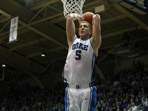 Duke's Mason Plumlee during the Blue Devils' 73-68 victory over North Carolina on Wednesday, February 13, 2013 in Durham, NC (Photo by Jack Morton).