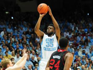 Reggie Bullock (35) takes a shot during the North Carolina Tar Heels vs. NC State Wolfpack NCAA basketball game, Saturday, February 23, 2013 in Chapel Hill, NC.