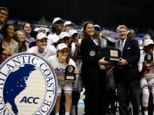 Defending ACC champion Duke has been named as 2013-14 Atlantic Coast Conference Women's Basketball preseason favorite in separate polls of the league's Blue Ribbon Panel and its 15 head coaches.