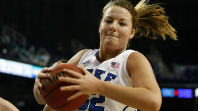 Tricia Liston was among the Blue Devils players in double digits in Sunday's win.