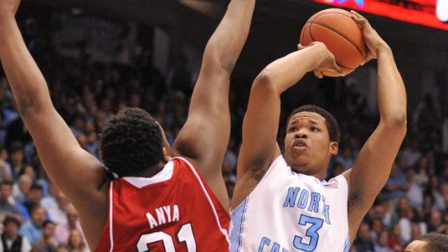 Kennedy Meeks (3) goes up for a shot during action at the Dean E. Smith Center between the North Carolina Tar Heels and the North Carolina State Wolfpack on February 1, 2014 in Chapel Hill, NC. (Will Bratton/WRAL contributor)