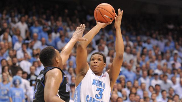Kennedy Meeks (3) takes a shot during action at the Dean E. Smith Center between the North Carolina Tar Heels and the Duke Blue Devils on February 20, 2014 in Chapel Hill, NC. (Will Bratton/WRAL contributor)