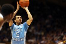 North Carolina's Marcus Paige during the Tar Heels' game verus Duke on Saturday, March 8, 2014 in Durham, NC.  Duke defeated the Tar Heels 93-81.