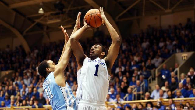 Duke's Jabari Parker during the Blue Devils' game versus North Carolina on Saturday, March 8, 2014 in Durham, NC.  Duke defeated the Tar Heels 93-81.