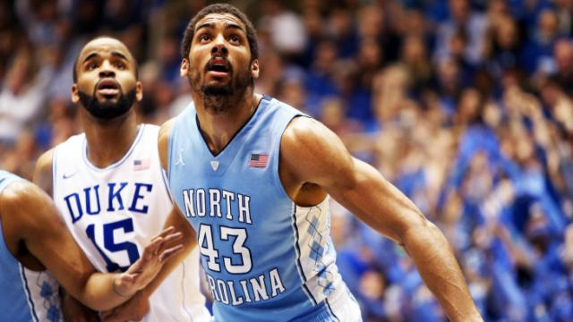 North Carolina's James Michael McAdoo during the Tar Heels' game versus Duke on Saturday, March 8, 2014 in Durham, NC.  Duke defeated the Tar Heels 93-81.