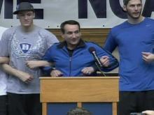 Web-only: Duke celebrates national championship