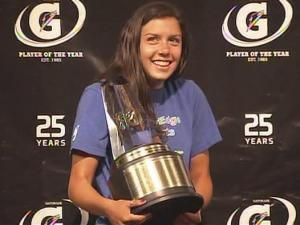 Gatorade National Girls Soccer Player of the Year, Mollie Pathman of Durham Academy