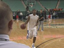 Kyrie Irving practices in Greensboro
