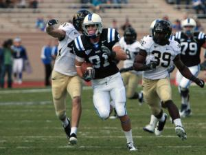 Duke's Cooper Helfet during Wake's 24-23 victory at Duke on Saturday, October 22, 2011 (Photo by Jack Morton).