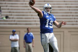 Duke's Sean Renfree during the 2012 spring football game at Wallace Wade Stadium on Saturday, March 31, 2012 in Durham, N.C. (Photo by Jack Morton).
