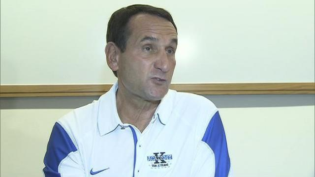 Coach Krzyzewski spoke at his annual K Academy