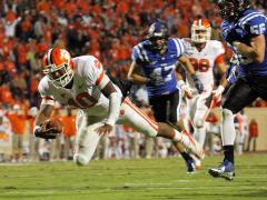 Clemson overwhelms Duke, 56-20