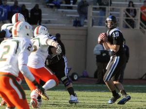 Duke's Sean Renfree during the Devils' 52-45 loss to Miami on Saturday, November 24, 2012 in Durham, NC (Photo by Jack Morton).