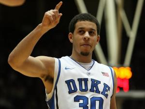 Duke's Seth Curry during the Blue Devils' 76-54 win over Elon on Thursday, December 20, 2012 in Durham, NC (Photo by Jack Morton).