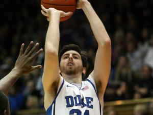 Duke's Ryan Kelly during the Blue Devils' 80-62 victory over Wake Forest on Saturday, January 5, 2013 in Durham, NC (Photo by Jack Morton).