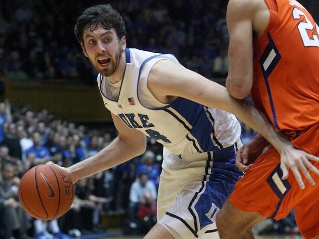 Duke's Ryan Kelly during the Blue Devils' 68-40 victory over Clemson on Tuesday, January 8, 2013 in Durham, NC (Photo by Jack Morton).