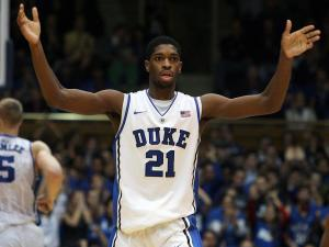 Duke's Amile Jefferson during the Blue Devils' 73-57 victory over Georgia Tech on Thursday, January 17, 2013 in Durham, NC (Photo by Jack Morton).
