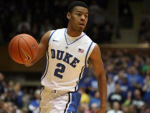 Duke's Quinn Cook during the Blue Devils' 73-57 victory over Georgia Tech on Thursday, January 17, 2013 in Durham, NC (Photo by Jack Morton).