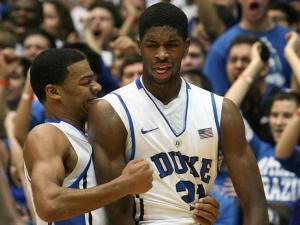 Duke's Amile Jefferson during the Blue Devils' 84-64 victory over Maryland on Saturday, January 26, 2013 in Durham, NC (Photo by Jack Morton).